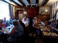 At The Sorrel Horse in Barham for the meal after the South-East District Quarter-Peal Evening.