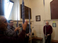 Ringing at St Andrew in Hertford on the 2019 SE District Outing.
