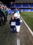 Alfie at his first Ipswich Town match.