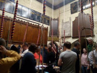A busy ringing chamber at the last St Mary-le-Tower practice of 2019!