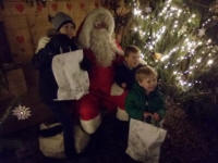 The boys with Father Christmas.