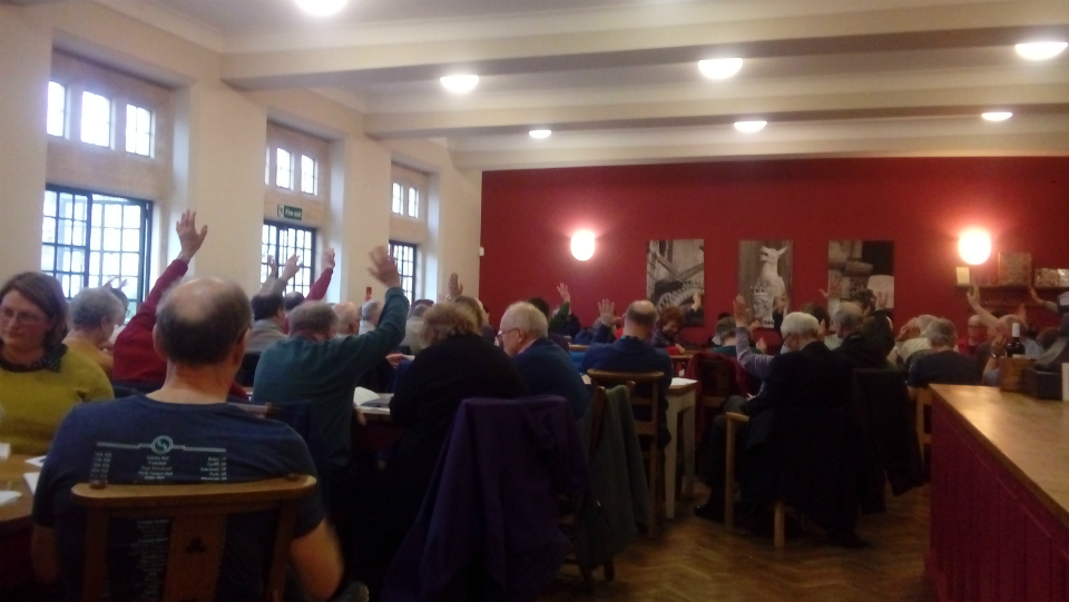 AGM in Cathedral Refectory.