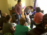 Some of the crowds in our living room for Alfie's birthday party.