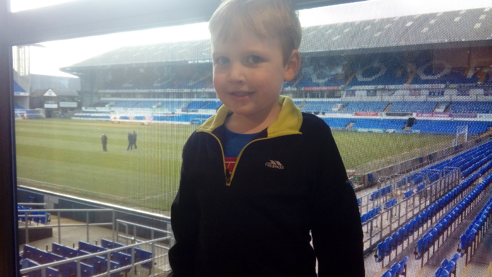 Alfie at Portman Road.