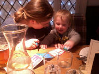 Ruthie and Alfie at The Coach and Horses.