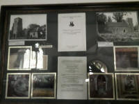 The board in Boulge church celebrating the transferring of the bell from Mickfield in 1984.
