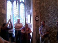 Ringing at Campsea Ashe for the South-East Practice.