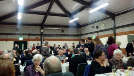 Taking our seats for the 95th Anniversary Suffolk Guild Dinner at The Blackbourne Community Centre in Elmswell.