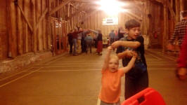 Alfie & Mason dancing at the Guild Social Barn Dance at Sproughton Tithe Barn.