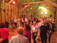 Dancing at the Guild Social Barn Dance at Sproughton Tithe Barn.