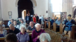 Awaiting the results for the Eight-Bell in Debenham church.