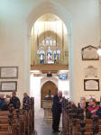 St Margaret's new ringing gallery.