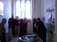 Ringing at Little Eversden on Rambling Ringers Tour.