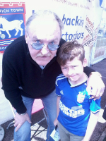 Mason with Kevin Beattie.