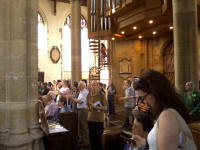Gathered in St Peter Mancroft church for the draw.