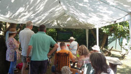Watching the World Cup Final at the Offton BBQ.