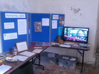 The exhibition at Pettistree for Heritage Open Day.