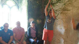 Ringing at Mary Tavy on Rambling Ringers Tour.