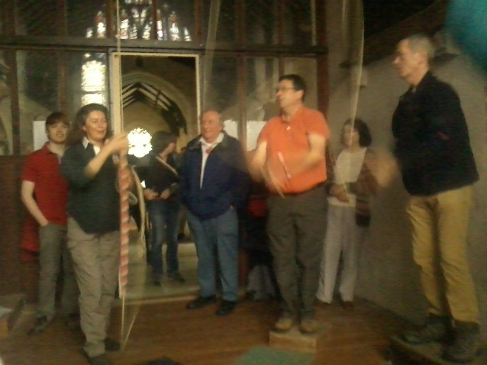 Ringing at Coslany Norwich on the South-East District Outing.