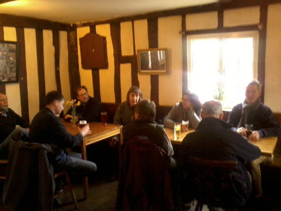 In the pub at The Cretingham Bell at the end of it all!