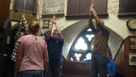 Ringing at St Mary-le-Tower for the Tower Open Day.