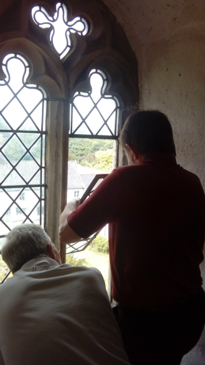 How many ringers does it take to close Stradbroke ringing chamber's window? David Stanford & Brian Whiting endeavour to find out