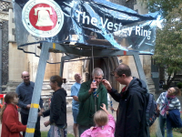 The Vestey Ring outside St Mary-le-Tower for the Tower Open Day.