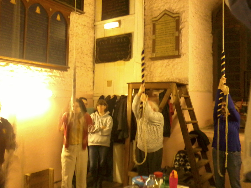 Evening ringing at Woodbridge after the 2014 South-East District ADM.