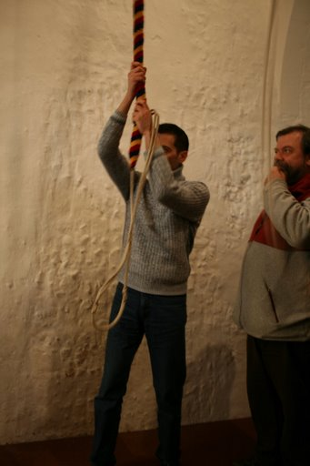 Picture of Mirko Rossi ringing Bob Doubles at Monewden
