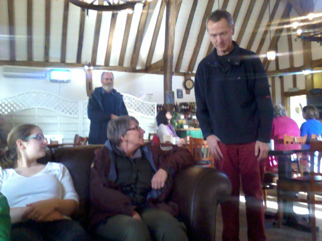 Ruthie, Chris & Mary Garner, and Mike Whitby at Greenstead Green Farm Shop Cafe.