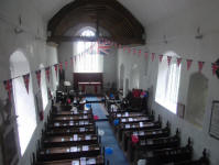 Henley church decorated for the occasion of the South-East District Practice.