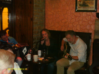 Band playing at Sheehan's in Killarney.
