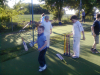 Mason at cricket.