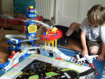 Mason with his airport.