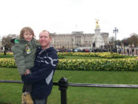 Mason & Me outside Buckingham Palace.