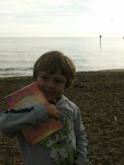 Mason on Felixstowe beach.